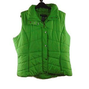 NY & Co. Puffy Vest XL Green Puffer Sleeveless